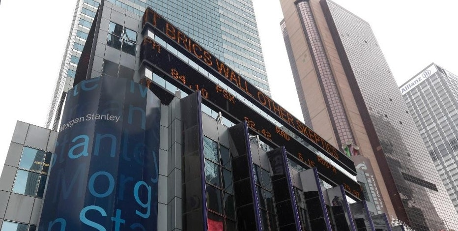 FILE - This Aug. 12, 2014, file photo, shows the headquarters of Morgan Stanley, near Times Square, in New York. Morgan Stanley reports financial results on Tuesday, Jan. 17, 2017. (AP Photo/Richard Drew, File)