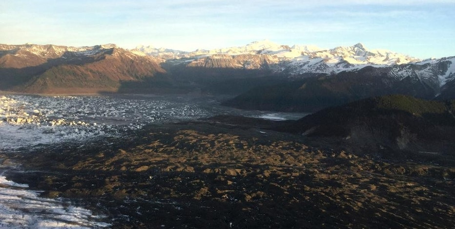 This Oct. 26, 2016, photo provided by New Forests Inc. shows Chugach Alaska Corp. lands in Carbon Mountain, Alaska. An undeveloped Alaska coal field, California's offsets for carbon pollution and thousands of acres of forest are the unlikely players in a complex agreement that is expected to generate millions for an Alaska Native organization. (Nathan Lojewski/New Forests via AP)