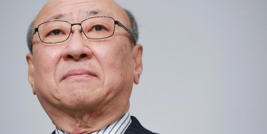Japanese video game maker Nintendo Co. President Tatsumi Kimishima attends a news conference in Tokyo, Wednesday, Feb. 1, 2017. During the conference, Kimishima told reporters the game maker aims to sell 2 million Switch consoles in the first month after its launch on March 3. He said pre-orders were strong. (AP Photo/Eugene Hoshiko)