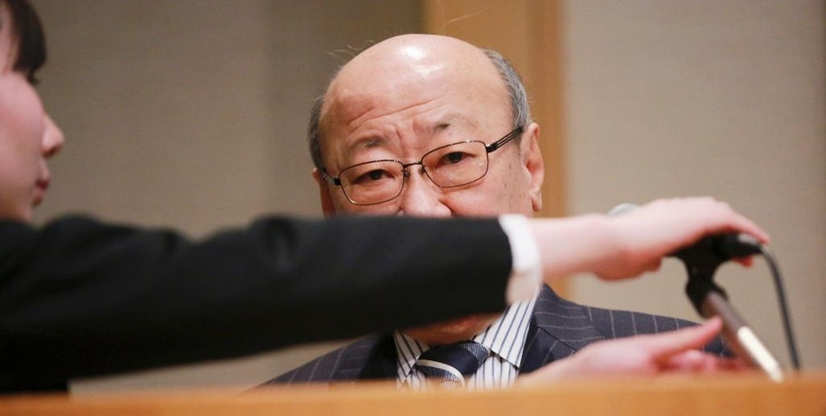 Japanese video game maker Nintendo Co. President Tatsumi Kimishima prepares to speak during a news conference in Tokyo, Wednesday, Feb. 1, 2017. During the conference, Kimishima told reporters the game maker aims to sell 2 million Switch consoles in the first month after its launch on March 3. He said pre-orders were strong. (AP Photo/Eugene Hoshiko)