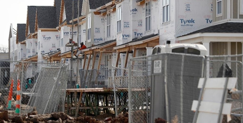 This Monday, Jan. 30, 2017 photo shows new housing under construction in St. Louis. The development is receiving federal low-income housing tax credits. (AP Photo/Jeff Roberson)