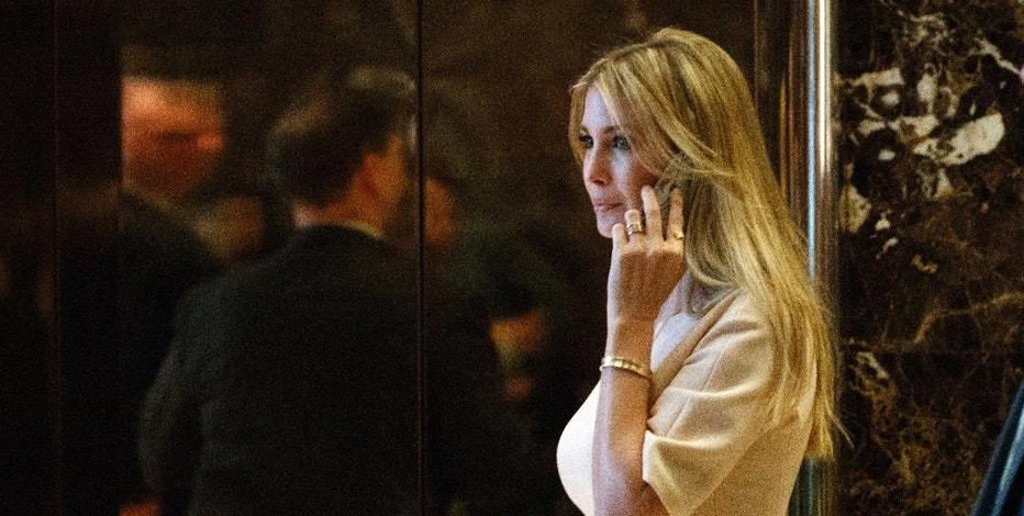 """FILE - In this Nov. 11, 2016 file photo, Ivanka Trump, daughter of President-elect Donald Trump, arrives at Trump Tower in New York. Nordstrom shares sunk after President Trump tweeted that the department store chain had treated his daughter """"so unfairly"""" when it announced last week that it would stop selling Ivanka Trump's clothing and accessory line.  (AP Photo/ Evan Vucci, File)"""