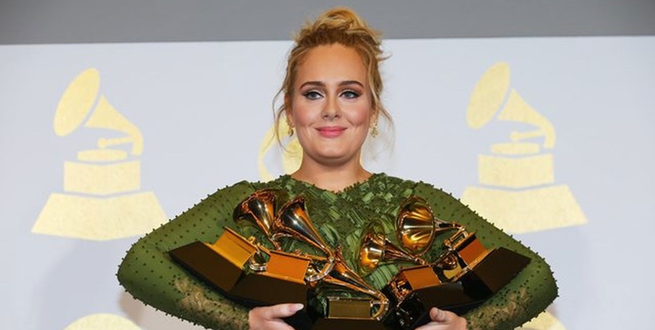 Image result for grammy 59th adele