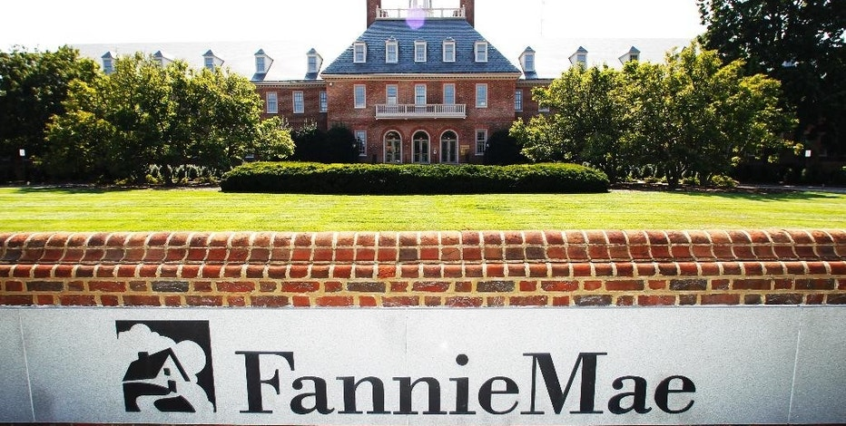 FILE - This Monday, Aug. 8, 2011, file photo shows the Fannie Mae headquarters in Washington. Fannie Mae will pay the U.S. Treasury a $5.5 billion dividend next month after its profit doubled in its latest quarter. (AP Photo/Manuel Balce Ceneta, File)