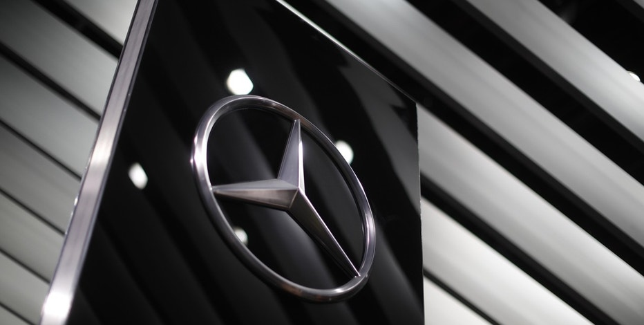 The Mercedes Benz logo is seen at the company's presentation area during the North American International Auto Show in Detroit, Michigan, U.S., January 10, 2017.