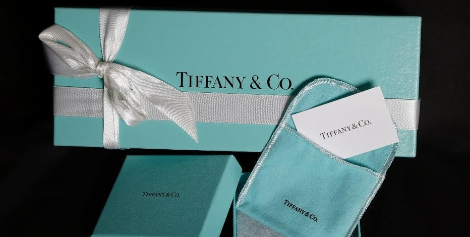 FILE - This Nov. 27, 2012, file photo, shows Tiffany & Co. gift boxes displayed in Boston. Tiffany & Co. reports financial earnings Friday, March 17, 2017. (AP Photo/Elise Amendola, File)