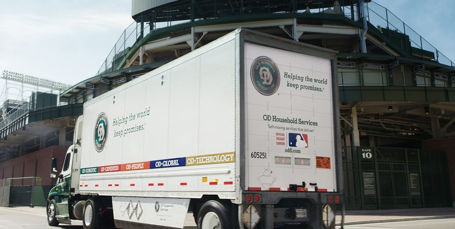 Under a new national sponsorship, Old Dominion plans to put MLB logos and baseball imagery on 30,000 trailers.