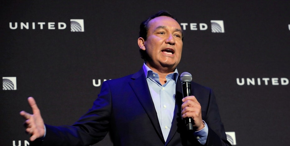 Chief Executive Officer of United Airlines Oscar Munoz introduces a new international business class dubbed United Polaris in New York, U.S. June 2, 2016.