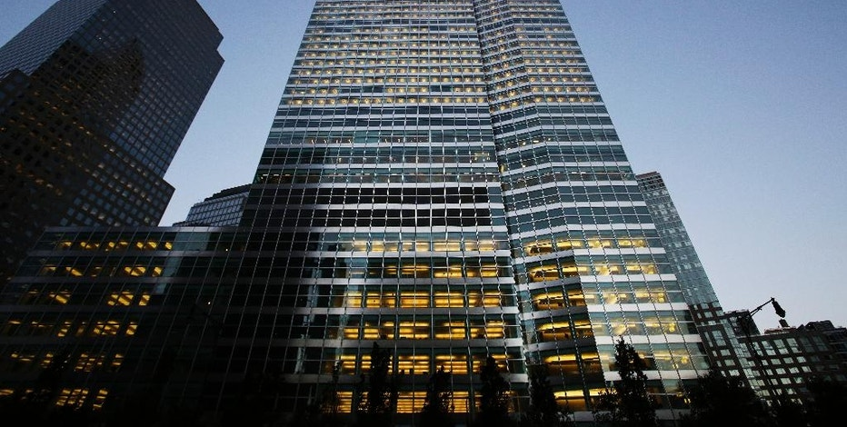 This Thursday, Oct. 15, 2015, photo shows the Goldman Sachs headquarters, in New York. The Goldman Sachs Group Inc. reports earnings Tuesday, April 18, 2017. (AP Photo/Mark Lennihan)