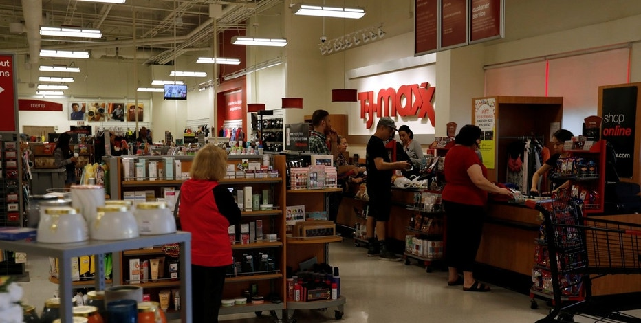 A T.J. Maxx store which is owned by TJX Cos Inc in Pasadena, California U.S., May 15, 2017. REUTERS/Mario Anzuoni