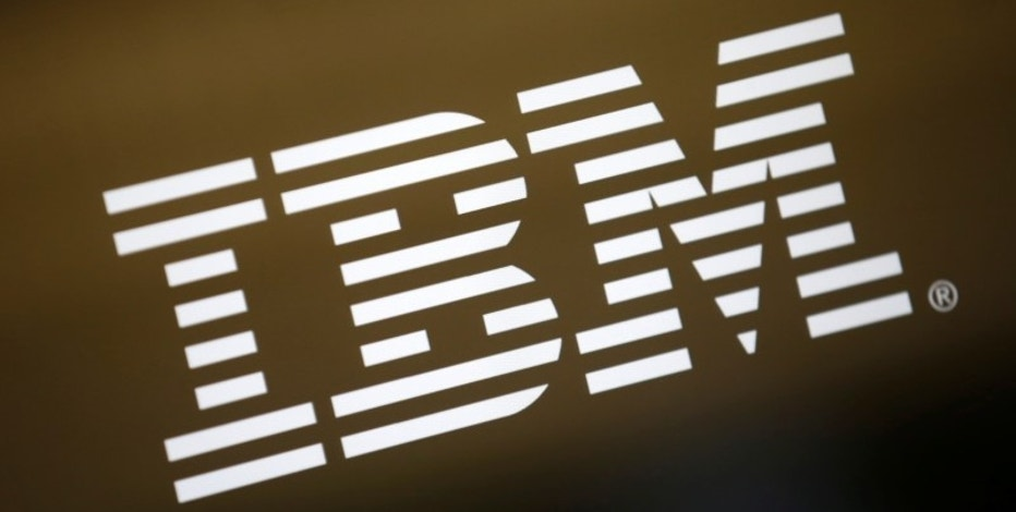 The logo of Dow Jones Industrial Average stock market index listed company IBM (IBM) is seen on a computer screen in Los Angeles, California, United States, April 22, 2016. REUTERS/Lucy Nicholson - RTX2E4AL