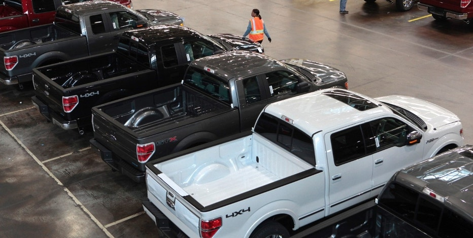 Ford F-150s lined up FBN