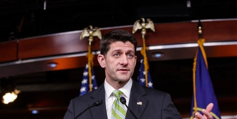 House Speaker Paul Ryan, R-Wis., announces that he is abruptly pulling the troubled Republican health care overhaul bill off the House floor, short of votes and eager to avoid a humiliating defeat for President Donald Trump and GOP leaders, at the Capitol in Washington, Friday, March 24, 2017. (AP Photo/J. Scott Applewhite)