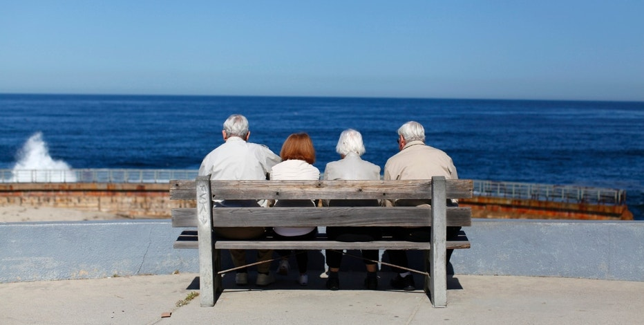 People Sitting on Bench, Retirement RTR FBN