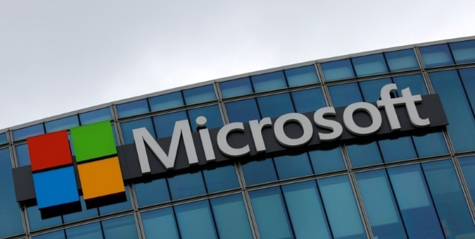 The logo of Microsoft is pictured in Issy-les-Moulineaux, France, August 8, 2016. REUTERS/Jacky Naegelen/File Photo