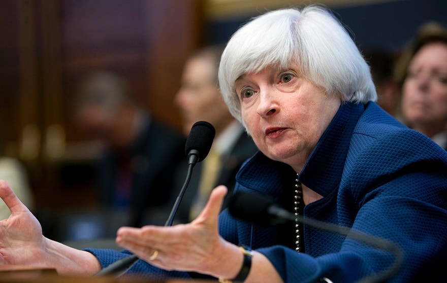 Federal Reserve Chair Janet Yellen testifies on Capitol Hill in Washington, Wednesday, July 12, 2017, before the House Financial Services Committee to give the semiannual monetary policy report to the Congress. (AP Photo/Jacquelyn Martin)
