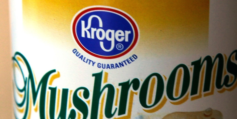A can of Kroger brand mushrooms is displayed in Golden, Colorado September 15, 2009.