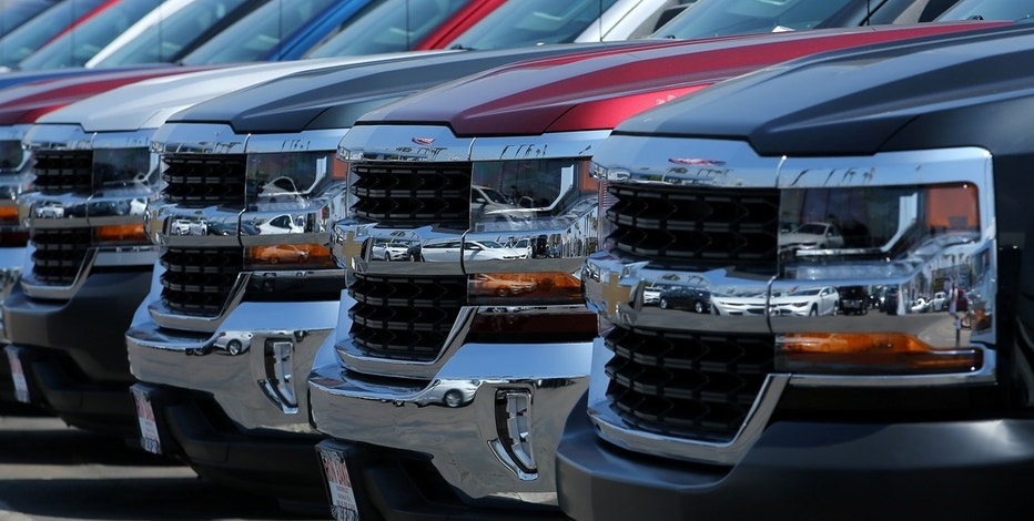 New trucks are shown for sale at a Chevrolet dealership in National City, California, U.S., June 30, 2017.