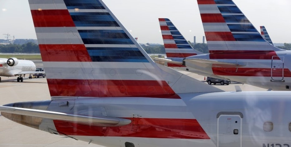 American Airlines aircraft are parked at Ronald Reagan Washington National Airport in Washington, U.S., August 8, 2016.      REUTERS/Joshua Roberts