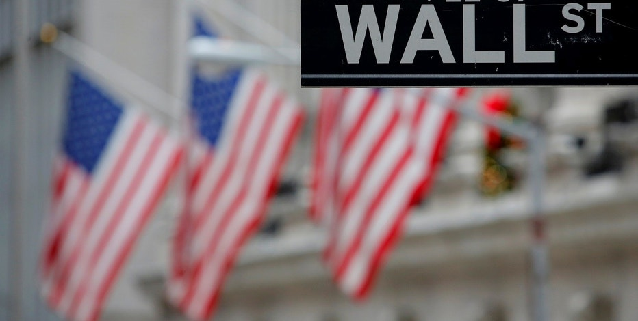 A street sign for Wall Street is seen outside the New York Stock Exchange in Manhattan New York City