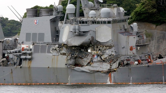 USS Fitzgerald heading to Huntington Ingalls for repairs