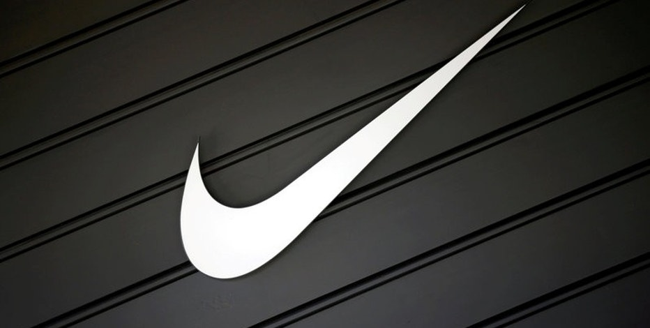 FILE PHOTO: The logo of Nike (NKE) is seen in Los Angeles, California, United States, April 12, 2016. REUTERS/Lucy Nicholson/File Photo