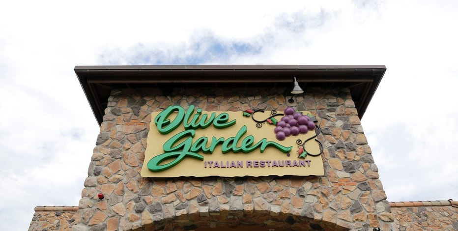 FILE - This Monday, June 27, 2016, file photo shows an Olive Garden restaurant in Methuen, Mass. Darden Restaurants Inc. reports financial results Tuesday, Sept. 26, 2017. (AP Photo/Elise Amendola, File)