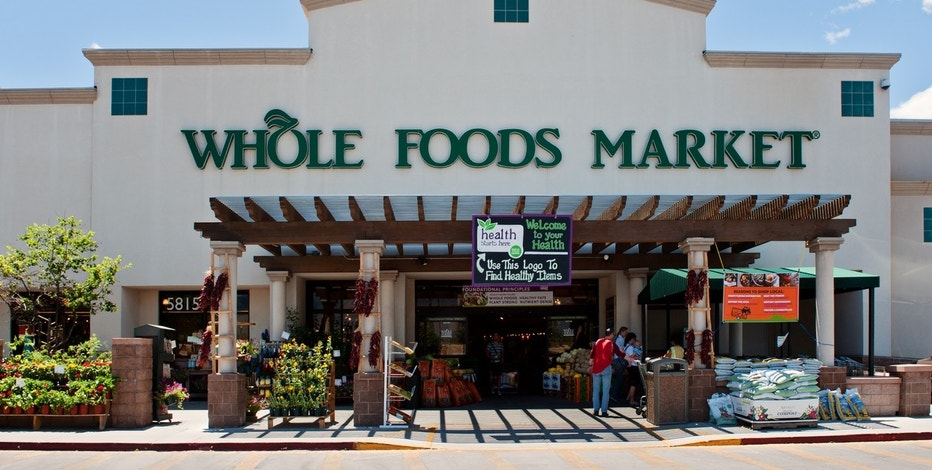 """Albuquerque, New Mexico, USA - June 20, 2011: Whole Foods Market Natural and Organic Grocery Store, midday in North East Albuquerque."""