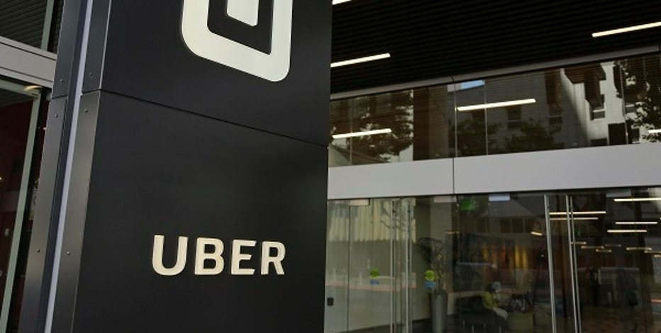 FILE - This Wednesday, June 21, 2017, file photo shows the building that houses the headquarters of Uber, in San Francisco.  Transport for London says it won't renew a license for Uber to operate in the British capital. (AP Photo/Eric Risberg, File)
