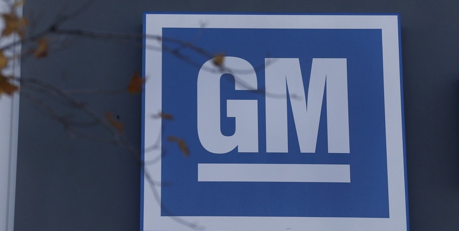 The GM logo is seen at the General Motors Lansing Grand River Assembly Plant in Lansing, Michigan October 26, 2015. Photo taken October 26.
