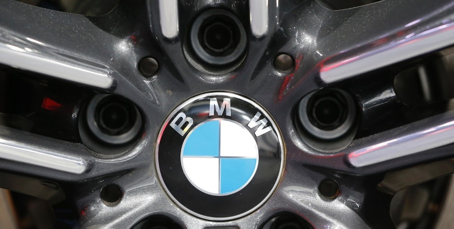 A BMW logo is seen at the North American International Auto Show in Detroit, January 12, 2016.