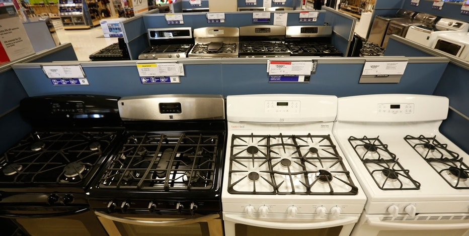 Stoves and other appliances are seen on display at a Sears store in Schaumburg, Illinois, near Chicago September 23, 2013.