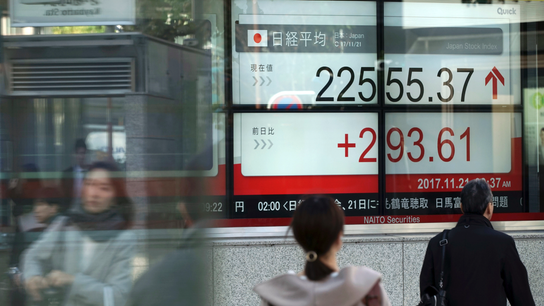 Asian shares advance as Wall Street regains ground