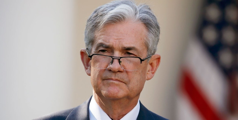 In this Thursday, Nov. 2, 2017, file photo, Federal Reserve board member Jerome Powell stands as President Donald Trump announces him as his nominee for the next chair of the Federal Reserve in the Rose Garden of the White House in Washington. The Senate Banking Committee has scheduled Powell's confirmation hearing for Nov. 28.