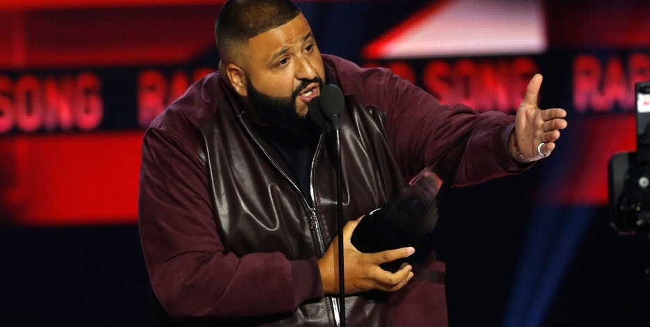 "2017 American Music Awards – Show – Los Angeles, California, U.S. – DJ Khaled accepts the award for Favorite Song - Rap/Hip-Hop for ""I'm the One."