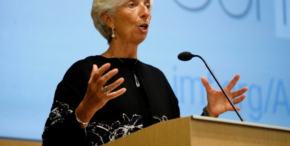 International Monetary Fund Managing Director Christine Lagarde delivers opening remarks at the IMF's 17th Jaques Polak Annual Research Conference