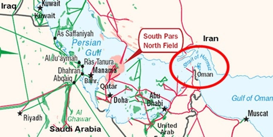 Oil prices would likely soar if Iran disrupted the supply of oil through the Strait of Hormuz, where 17 million barrels of oil traveled through each day last year.