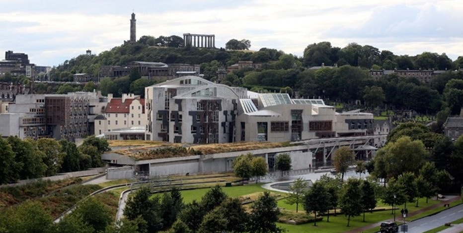 A view of the Scottish Parliament building in Edinburgh.