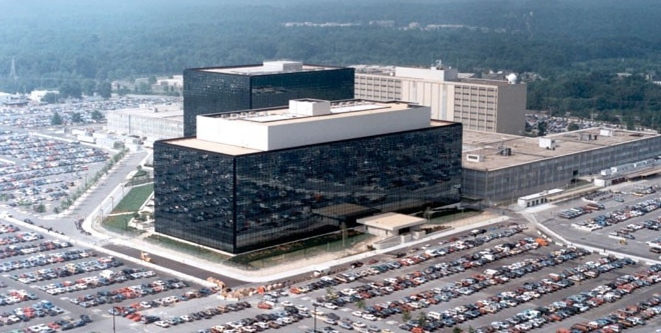The National Security Agency headquarters building in Fort Meade, Maryland.