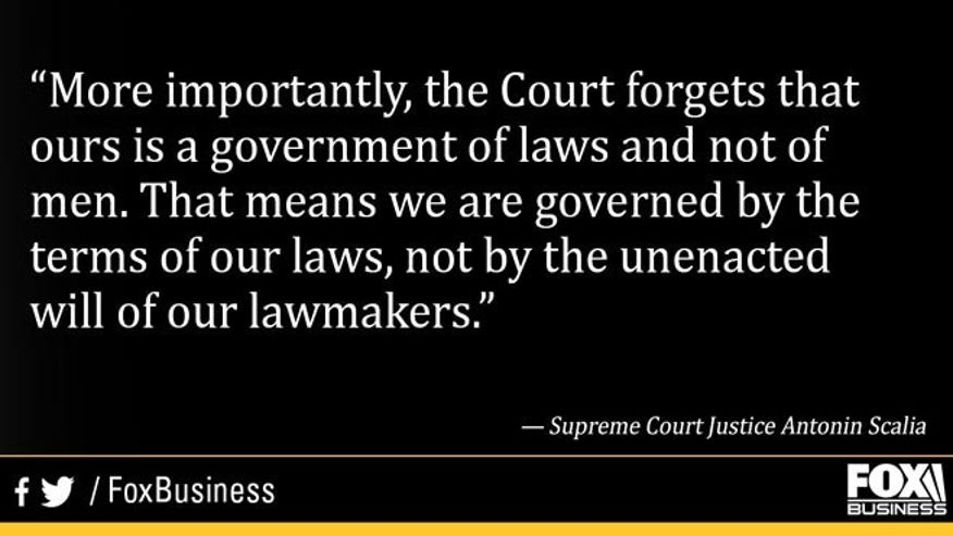 Reminding the Justices that their only job is to interpret the law