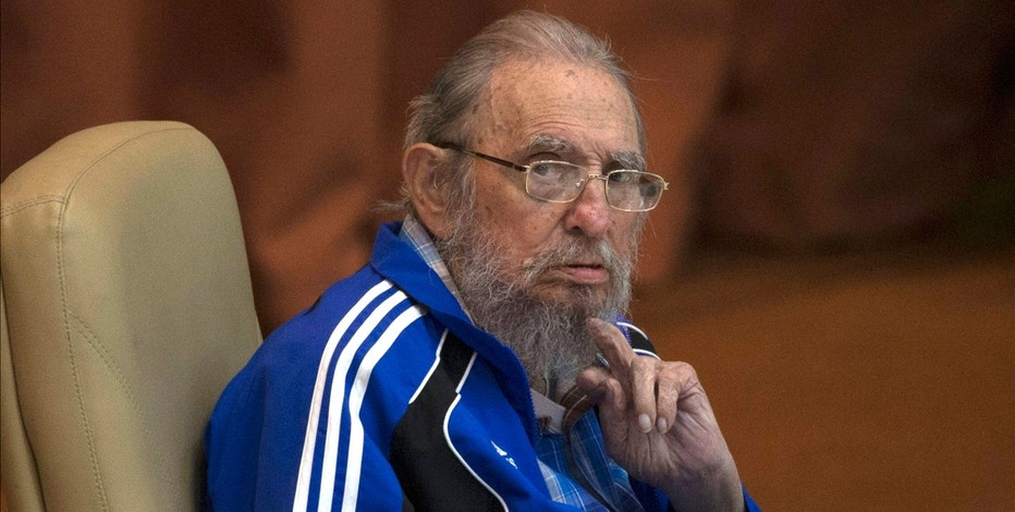 Fidel Castro attends the last day of the 7th Cuban Communist Party Congress in Havana, Cuba, Tuesday, April 19, 2016
