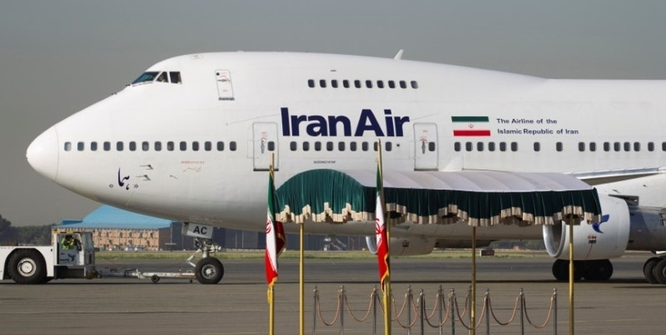 An IranAir Boeing 747SP aircraft is pictured before leaving Tehran's Mehrabad airport. REUTERS/Morteza Nikoubazl