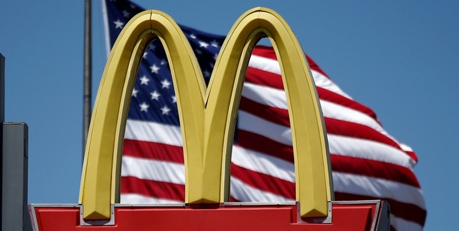 The logo of Dow Jones Industrial Average stock market index listed company McDonald's (MCD) is seen in Los Angeles, California, U.S. on April 22, 2016. REUTERS/Lucy Nicholson/File Photo