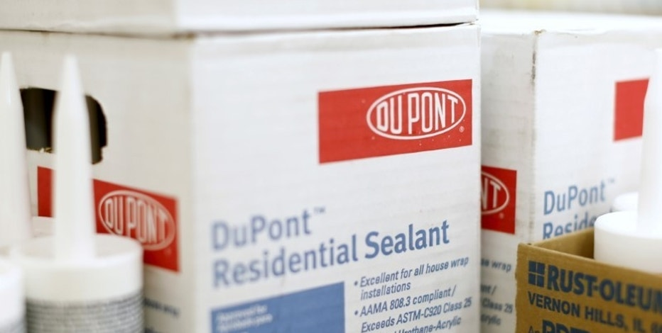DuPont products are shown for sale in a hardware store in National City, California, December 9, 2015.  REUTERS/Mike Blake/File Photo