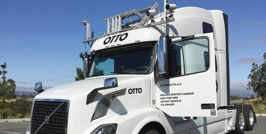 FILE PHOTO --  An Autonomous trucking start-up Otto vehicle is shown during an announcing event in Concord, California, U.S. August 4, 2016.   REUTERS/Alexandria Sage/File Photo