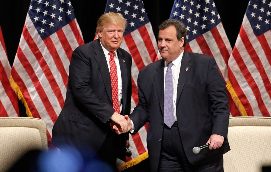 Donald Trump and Chris Christie FBN