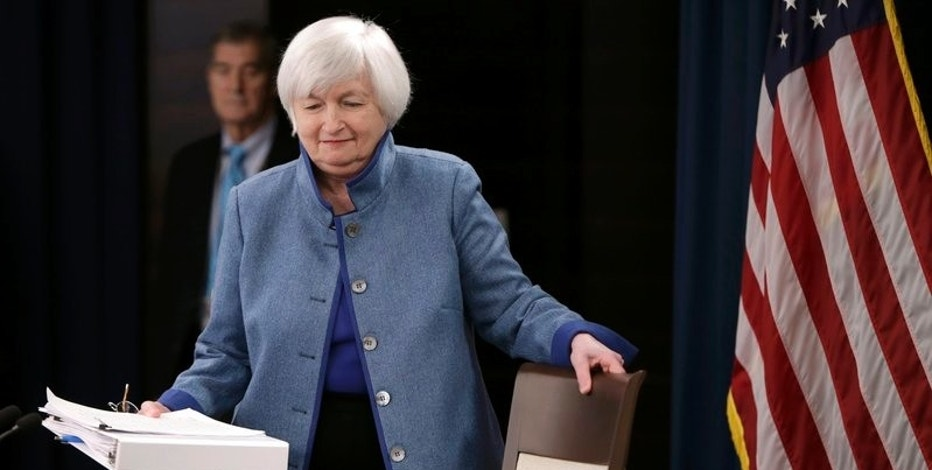 Federal Reserve  Chair Janet Yellen arrives to hold a news conference following day two of the Federal Open Market Committee (FOMC) meeting in Washington, U.S., December 14, 2016. REUTERS/Gary Cameron