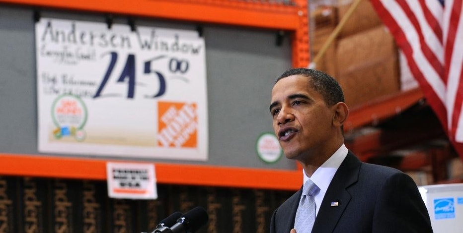 FILE - In this Dec. 15, 2009, file photo, President Barack Obama speaks during a visit to Home Depot in Alexandria, Va. The last major economic report card for Obama arrives Friday, Jan. 6, 2017, with the release of the December jobs figures. The report will cap a long record of robust hiring after the Great Recession, though one that left many people feeling left out. (AP Photo/Susan Walsh, File)