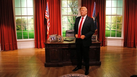 Wax Trump Makes Himself at Home in Tussauds' Oval Office