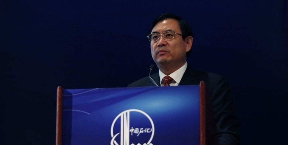 Sinopec Vice Chairman and President Wang Tianpu attends a news conference in Hong Kong March 28, 2011. REUTERS/Bobby Yip